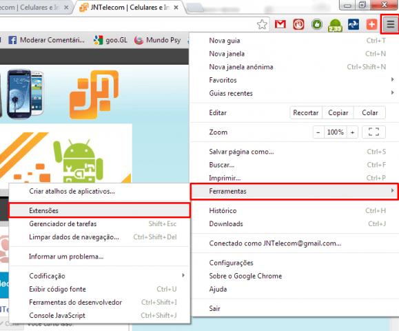 Remover vírus Facebook Chrome