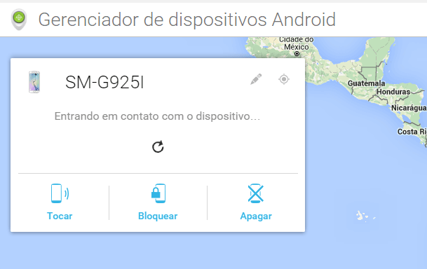 Interface do Device Manager do Android (Foto: Reprodução/Erenito Junior)